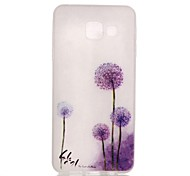 For Samsung Galaxy Case Glow in the Dark / Pattern Case Back Cover Case Dandelion TPU Samsung A3(2016)