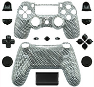 Replacement Controller Case for PS4 Controller (Gray and White)