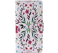 Colorful Flowers Painted PU Phone Case for iphone5SE