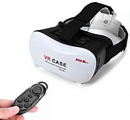 """montar a caixa vr google papelão cabeça filme 3D de realidade óculos virtuais + controlador do bluetooth plástico para 4 ~ 6 """"telefones"""