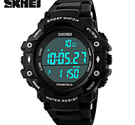 Men's Sport Watch Digital LCD Calendar Chronograph Water Resistant / Water Proof Dual Time Zones Sport Watch PU Band