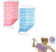 2Pcs Easy Reach Loofa Cloth The All-in-One Full Body Wash Cloth