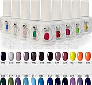 Lo último Popular tapa de la manera no tóxica ultravioleta empapa-apagado&pulimento del gel del LED de la resina (15 ml, 25-48