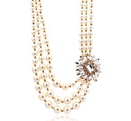 Imitation Pearl Three Layered Necklace