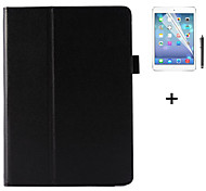 PU Leather Solid Color Flip Smart Stand Case For iPad 4/3/2 +Screen Protector Film Stylus Pen (Assorted Colors)
