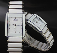 Couple's Watch Rectangle Dial Alloy Band