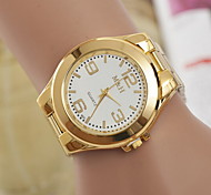 Men's Fashion Watch  Gold Steel Band