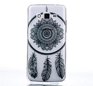Campanula Pattern Black Printing Transparent TPU Material Phone Case for Samsung Galaxy G360/G530