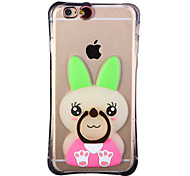 Glow in the Dark Green Ears Rabbit with Hand Ring and Strap PC Back Case for iphone6/6s