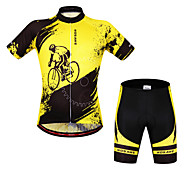 Wosawe Bike/Cycling Bib Shorts / Arm Warmers / Jersey / Jersey + Shorts / Tops / Clothing Sets/Suits Unisex Short SleeveBreathable /