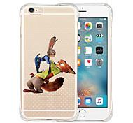 em toda a raça de amor silicone transparente macio volta para o iPhone 6 / 6s (cores sortidas)
