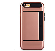Luxury Slim Hybrid Credit Card Pocket Wallet Pouch Phone case for iPhone 6Plus /6S Plus(Assorted Colors)