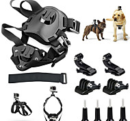 Pet Dog Harness Chest Shoulder Strap Belt Mount for GoPro Hero+ Camera - Black