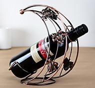 design da lua vinho rack de ferro puro do vintage