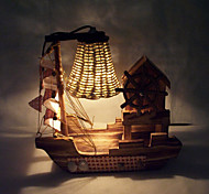 Creative Wood Light Music Sailing Lamp Decoration Desk Lamp Bedroom Lamp Gift for Kid