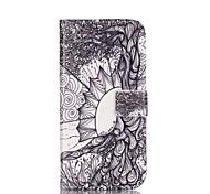 Custodia in pelle modello di albero della vita con slot per schede e stand per la galassia a3 (2016) / A5 (2016)