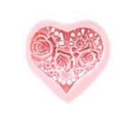 3D Сердце Цветы Силиконовые Mold Фондант Пресс-формы Сахар Ремесло Инструменты Шоколад Плесень на торты