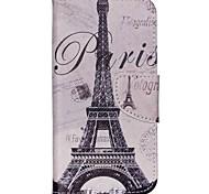 caso de telefone padrão de couro cruz por arco-íris Wiko up - Torre Eiffel de Paris