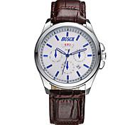 Men's Fashion Watch Belt Movement Double Calendar Waterproof Quartz Watch Business Gifts (Assorted Colors)