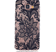 Black  Flowers  Pattern TPU Phone Case For Samsung Galaxy A5(2016)/Galaxy A3(2016)
