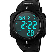 SKMEI® Men's Sporty Black Watch Digital LCD Display Calendar/Chronograph/Alarm/Water Resistant