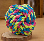 Dog Toy Pet Toys Ball Woven Textile Random Color