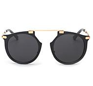 Sunglasses Men / Women / Unisex's Modern / Fashion Oval Silver / Gold Sunglasses Full-Rim