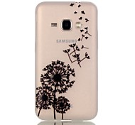 For Samsung Galaxy Case Glow in the Dark Case Back Cover Case Dandelion TPU Samsung J1 (2016)