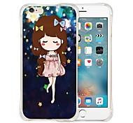 estrelas da dança de silicone volta caso transparente macio para o iPhone 5 / 5s (cores sortidas)