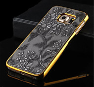 Metal Finish Fashion Retro Chinese Style Flower PU Leather Case Cover  For Galaxy  S7Edge/S7/S7 Plus