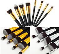 8pcs Makeup Brushes set Professional Silvery/Gold Powder brush Blush brush Eyeshadow Brush High Makeup Kit Synthetic Cosmetic Brushes