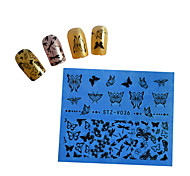 10pcs Black New Nails Art  Water Transfer Sticker  Manicure Nail Art Tips  STZV031-040