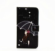 Girl Umbrella Painted PU Phone Case for Galaxy S5/S5mini/S6/S6edge/S6edge plus/S7/S7edge