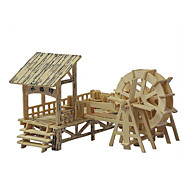 3D Puzzles Three-Dimensional Puzzles Wooden Simulation Model Quad Wooden Puzzles  Water Spring Lane