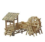 3d puzzles de casse-tête en trois dimensions en bois modèle de simulation quad puzzles en bois source d'eau couloir