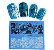8pcs Black New Nails Art  Water Transfer Sticker  Manicure Nail Art Tips  STZV041-048