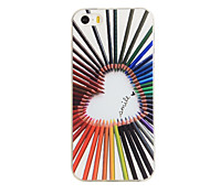 Pencil love Pattern TPU Soft Case for iphone5/5S