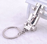 Stainless Steel Auto Racing Car Key Chain Ring Keyring