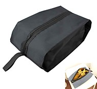 Multifunction Travel Water Resistant Zippered Nylon Storage Shoe Bag Black