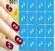 1pcs  New Nail Art Hollow Stickers Beautiful Image Designs Nail Art Beauty S021-S030