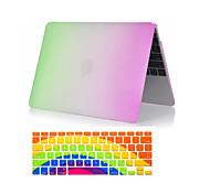 "2 in 1 Regenbogen bunten Kunststoff-Ganzkörper-Fall + Tastatur-Abdeckung für MacBook Pro 13 ""/ 15"""