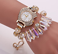Ladies' Bracelet Watch Korean Crystal Apple Fashion Ornaments Crystal Bracelet Watch Ladies Watches (Assorted Colors)