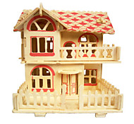 Romantic Cabin Wood 3D Puzzles Diy Toys