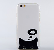 The New Cat Like Fish TPU Smiling Face Back Cover for iPhone 6 Plus/iPhone 6S Plus(Assorted Colors)
