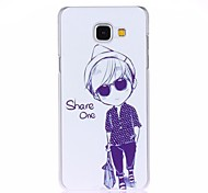 Sunglasses Girl Painted PC Phone Case for Galaxy A310/A510/A710