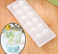 White Square Diamond Shape Ice Cube Tray Ice Cream Multi Freeze Moulds Kitchen Party Bar