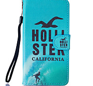 Seagulls Pattern PU Leather Full Body Case with Stand for BQ M 5.0