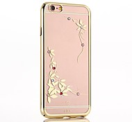 Lucky Clover with Color Diamond Electroplating Back Cover for iPhone6/iPhone 6s(Assorted Colors)