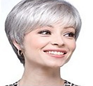 New Arrival Fashion Grey White Wig Short Straight Woman's Synthetic Wigs Hair Wig Full Wig for Daily