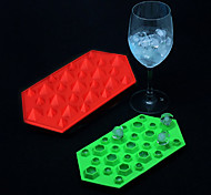 Silicone 27-Cavity 3D Diamond Gem Party Bar Ice Cube Cake Decoration Chocolate Mold Mould Tray